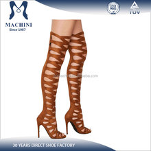 Latest design over the knee women gladiator sandals boots