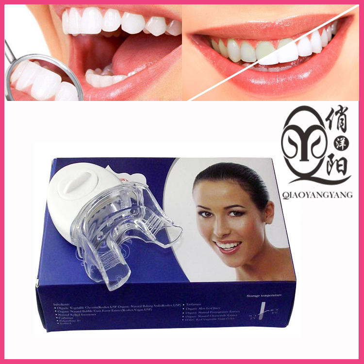 Home teeth whitening gel kit with blue LED lights Foe adults oral hygiene OEM