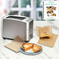 Best seller in Japan! Reusable Oven & Toaster Cooking Bag (20x21.5cm, set of 2)