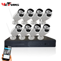 Full HD 1080P Wireless Outdoor Smartphone Security Cameras System with DVR NVR Kit