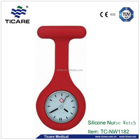 Red Color Silicone Nurse Watch