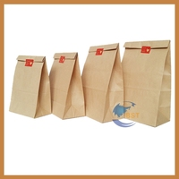 Design classical brown paper bag flowers for gift