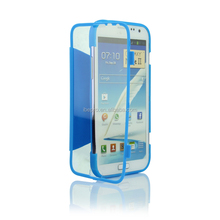 Ultra Thin Transparent Flip TPU Hard Case for Samsung Note 2 N7100
