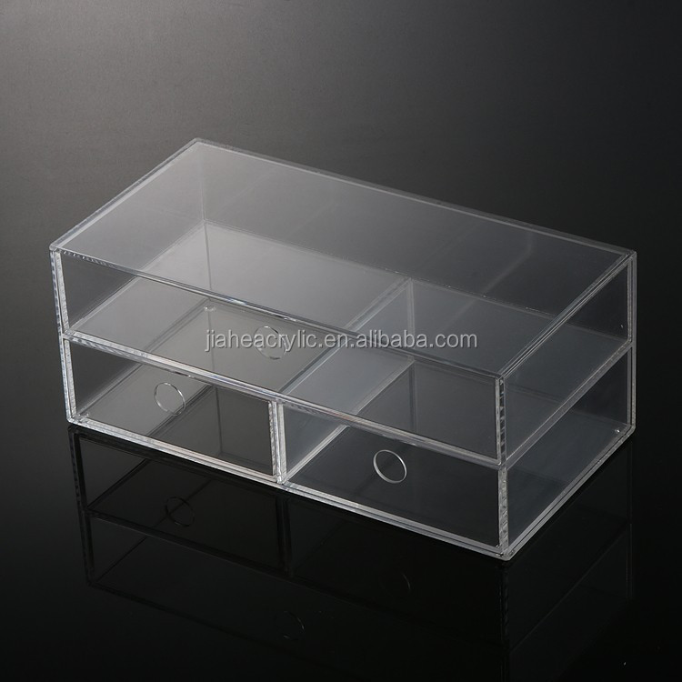 Import material acrylic jewelry display drawer case with jewelry display box OEM/ODM manufacturer in china