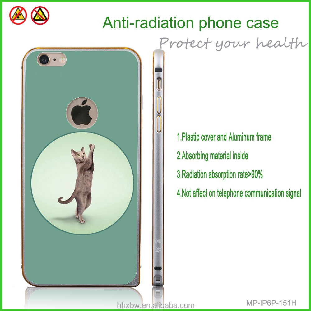 Cat Phone Shell Aluminum Frame Plastic Cover Green for mobile phone anti-radiation function