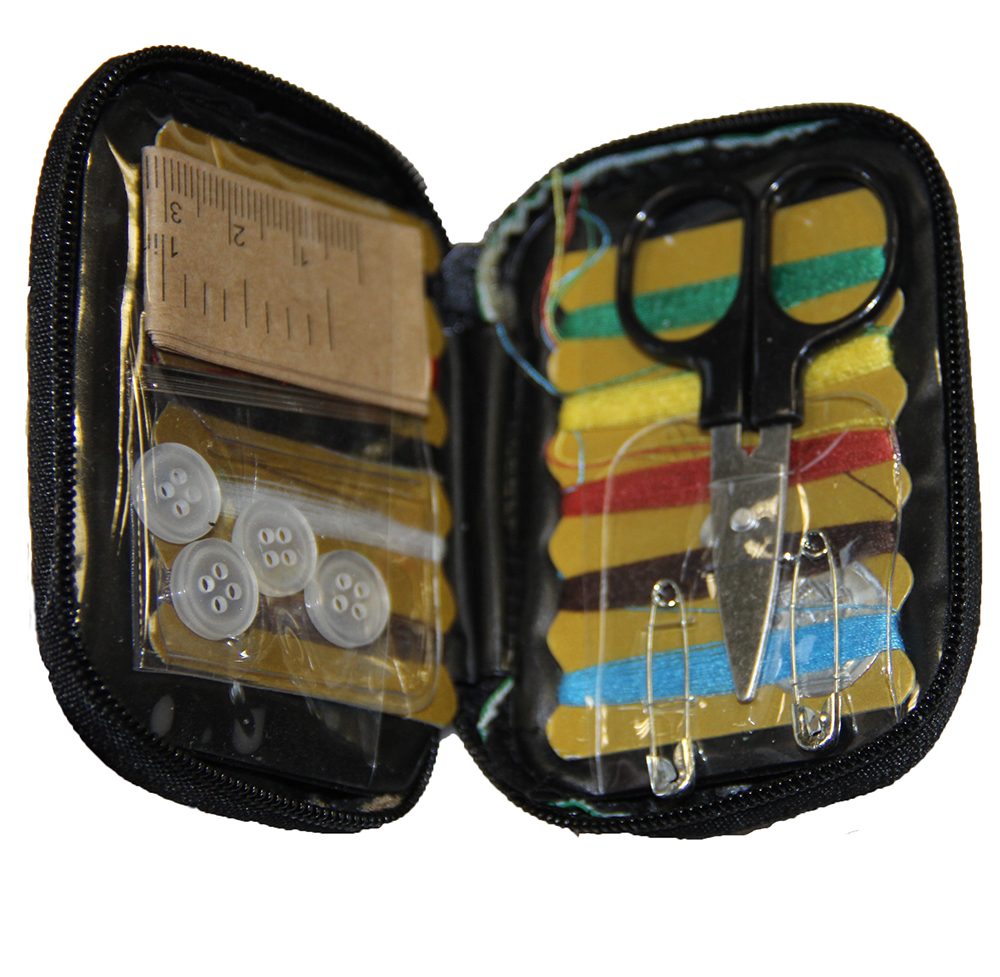 Mini Travel Sewing Kit in Tiny Polyester bag with 10 color threads