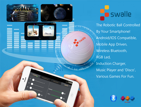 2016 Swalle Smart Ball the App-enabled Sphero Robotic Ball, Pet Toy Ball