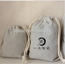 "100x Linen Gift Pouches 3""x4"" can print logo Vintage necklace Retro Punk Earrings flax jute cloth Bag Tea Coffee Packing case"