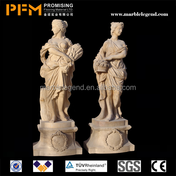 PFM 100% hand carved decorative open hand sculptures