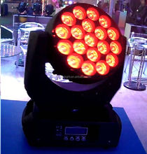 Hot 19 pcs RGBW 4 IN 1 12W led wash zoom led zoom moving head 19 x 10w quad leds