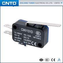 CNTD Reliable Supplier in China 10A/16A Customized IP40 Long Handle Type Miniature Micro Snap Action Switch 250VAC (CMV-101D)