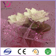 Glitter Flower Wrapping Mesh Net For Wedding Decoration