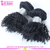 Qingdao top quality factory price brazilian kinky curly wefts unprocessed 6A grade kinky baby curl hair weave
