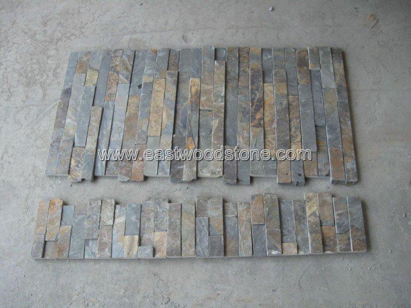 Te negro piedra artificial panel de pared pizarra - Panel piedra precios ...