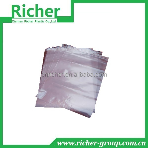 clear disposable poly water proof reclosable bags