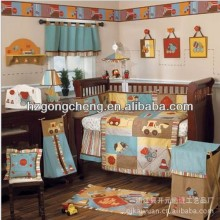 baby convertible crib set cartoon style with lovely wall hang bumper
