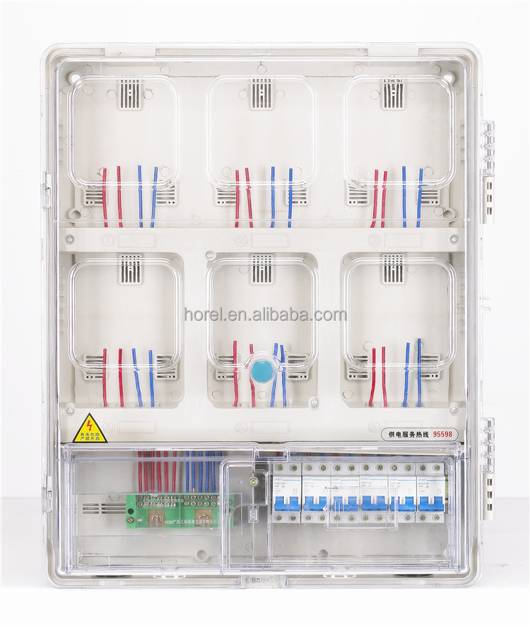 OEM experience professional electric meter box Transparent cover