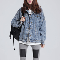 W70693G new design jean jacket 2015 wholesale fashion life denim jacket jeans women