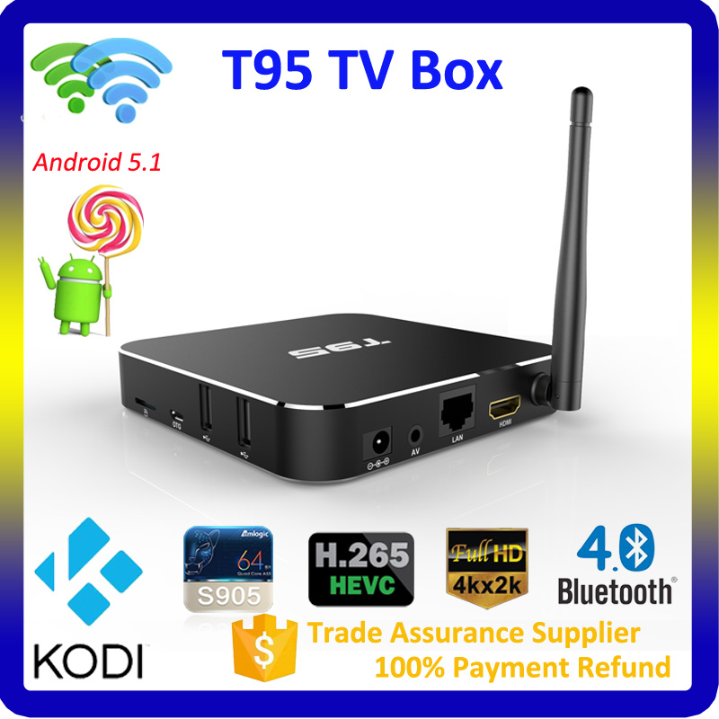 2016 Metal case 16.0 kodi android tv box T95 set top box 1G 8G