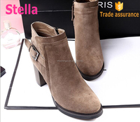 new design fashion easy wearing pull on ankle boots