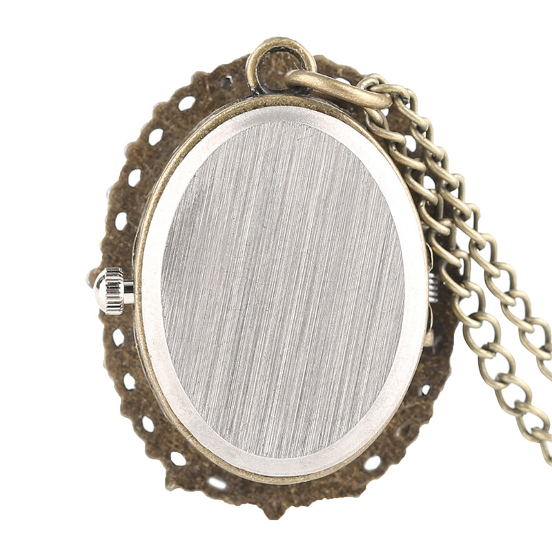 Vintage Elegant Pretty Beautiful Women Pattern Small Mini Quartz Pocket Watch for Lady Girl Neckalce Pendant Female Clock P62 (6)