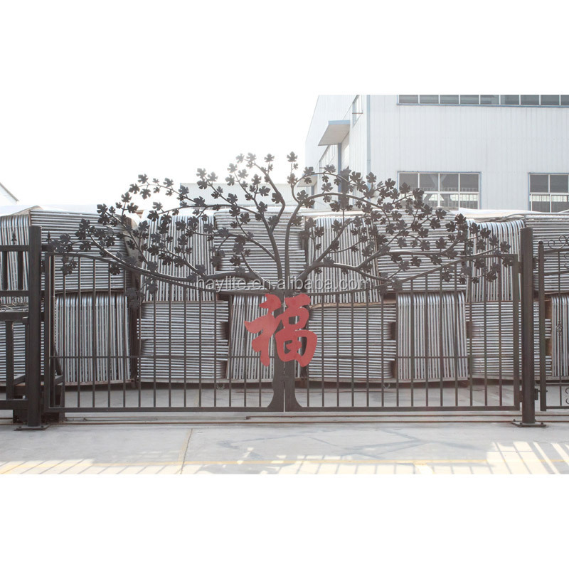 High quality and performance cantilever sliding wrought iron gate models