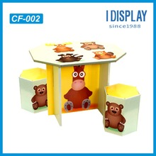 Decoration and fashion cardboard kids toy chair