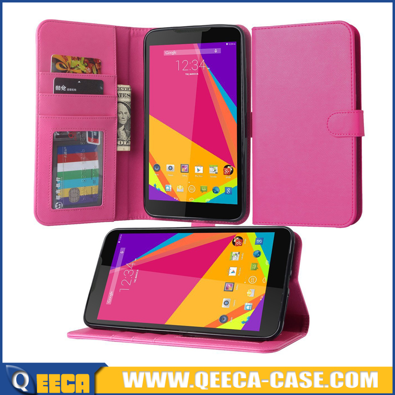 Factory manufacture leather case, leather flip wallet case for blu studio 7.0 phone case wholesale