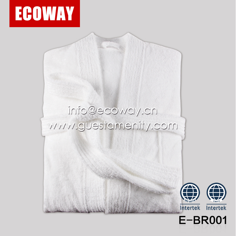 100% cotton hotel terry cloth bathrobes white mens spa bathrobe