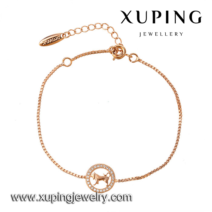73390-Xuping new style women alloy Rose gold dubai jewellery,italian gold plated jewellery bracelet