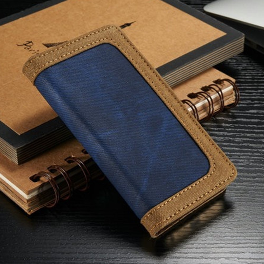 2016 Amazon hot Selling Jean+Canvas Leather Mobile Phone Case for i Phone 6 6s for iphone 6 case