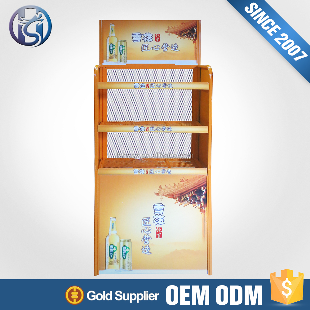 Alibaba China Supplier Drinking Glass Soda Can Display Bottle Rack