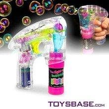 Wholesale bubble gun with 4 led lights and music
