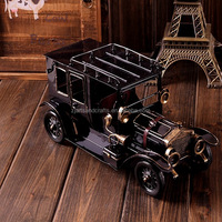 Handmade vintage metal car model for cafe bar decorations