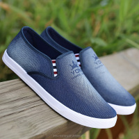 Fasion new design casual canvas shoes without shoelaces and good matching flat loafer shoes for party