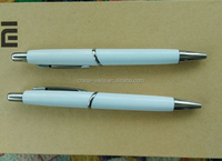 Top quality plastic ball pen with metal clip customised logo for promotion or gift