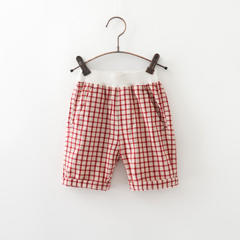 MS75441B 2017 kids boys summer checked shorts