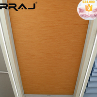 RRAJ Remote Operation Retractable Honeycomb Sun Awning for Ceiling Blind