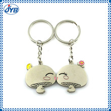 Cute baby kiss brand metal keychain baby kiss