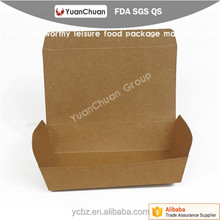 Fast food Paper Tray PE coated for egg tag cake