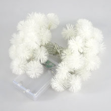 Battery Powered String Lights Warm White Chuzzle Ball Led For Home Decoration HNL006