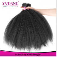 Hot selling wholesale human brazilian kinky straight yaki hair weave