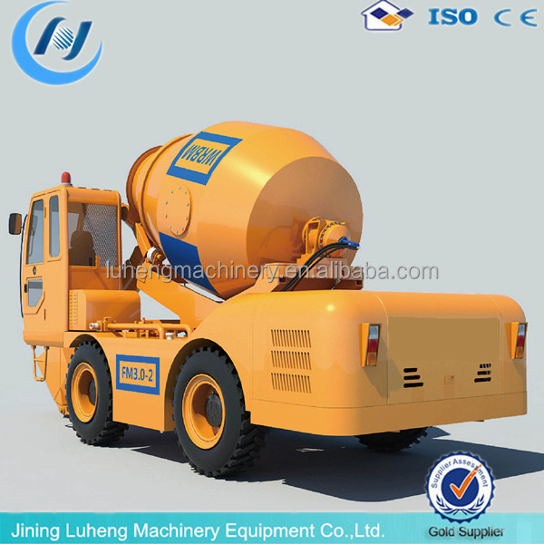 self-loading concrete mixer Department bipyramid reversal discharging mixer - LH