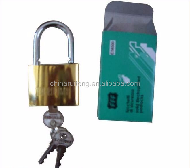 Multi size cheap iron padlocks door locks brass padlock