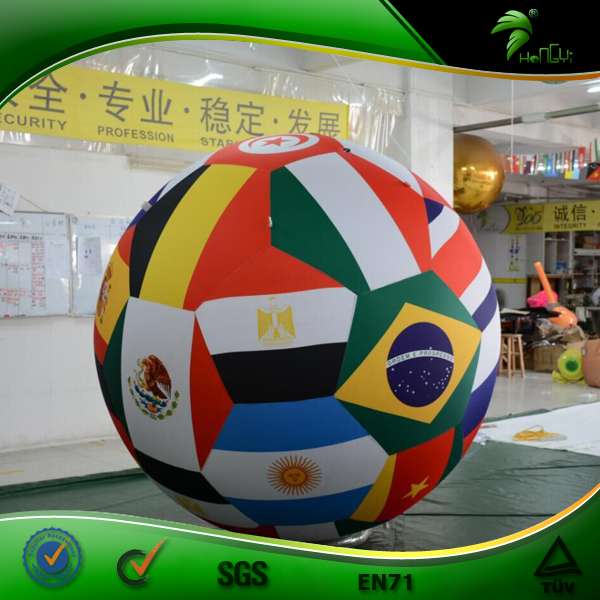 World Cup Inflatable Soccer for Decoration Inflatable Football Game Helium Parade Balloon