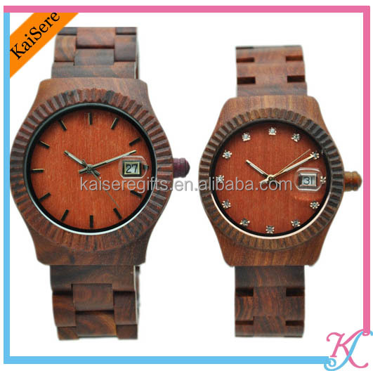 customized designs waterproof wood watches