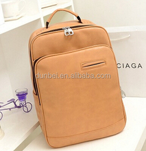 New backpack 2015 China factory leather cheap school knapsack