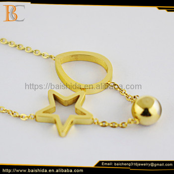 jewish star plain gold statement charms necklace for men