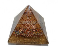 Chakra Power Stone Orgone Pyramids with Point