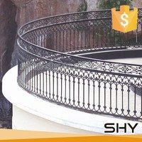 Outdoor wrought iron balcony railing
